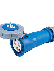 HENNEPPS HN1574 Waterproof Industrial Connector Female Industrial Socket CE 230V 50A 2P+E IP44 6H 10-16mm²