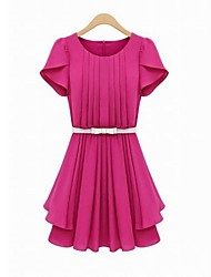Women's Temperament Waist Fold Dress
