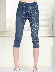 Women's Casual Jeans 3/4 Long Pants