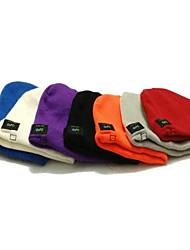 mz013 inalámbricos de música bluetooth manos libres con casquillo caliente de la gorrita tejida del sombrero (colores surtidos)