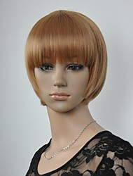 Women's Fashionable Short Brown Wigs with Full Bang