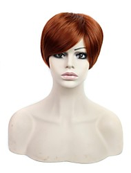 Capless Synthetic Wigs 12 Inch Short Wig with Side Bang