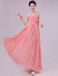 Sheath/Column Sweetheart Floor-length Chiffon Bridesmaid Dress