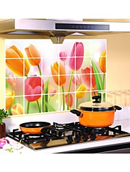 Wall Stickers Wall Decals, Style Kitchen Oil Tulip PVC Wall Stickers