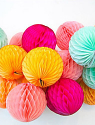 Honeycomb Shape Paper Flower Ball,5pcs/bag