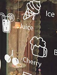"""19 * 10cm (7 """"w * 4"""" l) sobremesa e café loja de chá adesivo de janela"""