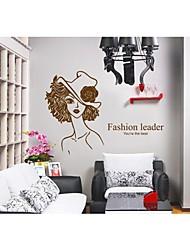 Wandaufkleber Wandtattoo, Stil Schönheit PVC Wandaufkleber