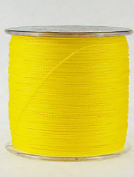 40-100LB 500M PE Braid Yellow Fishing Line