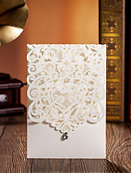 "Personalized Wrap & Pocket Wedding Invitations Invitation Cards-20 Piece/Set / 50 Piece/Set Card Paper 5""×7 ¼"" (12.7*18.4cm)"