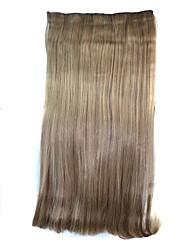 20-Zoll-Frauen gerader Clip Haarteile synthetische Erweiterungen