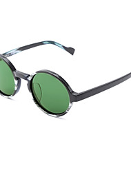 Wangcl Polarized Round Acetate Retro Sunglasses