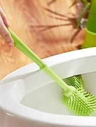50 pcs wholesalestrong descontaminação limpeza da escova de vaso sanitário, de plástico de 40 x 10 x 2 cm (15,8 × 4,0 × 0,8 polegadas) cor aleatória