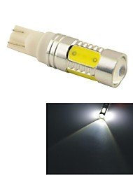 Carking™ Auto T10 11W 5SMD LED Lens Rear Turn Tail Signal Light Lamp-White(12V 1PC)