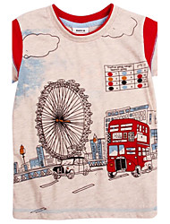Boy's Cotton Tee,Summer Print