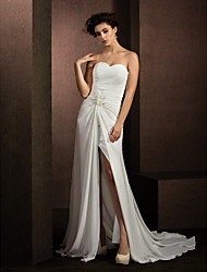 Lanting A-line/Princess Wedding Dress - Ivory Court Train Sweetheart Chiffon
