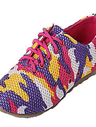 Nylon  Women's  Flat Heel  Comfort   Fashion  Sneakers  With  Lace-up  Shoes(More Colors)