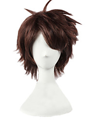 Angelaicos Men Haikyuu!! Oikawa Tooru Layered Short Brown Boys Halloween Lolita Costume Cosplay Party Hair Full Wigs
