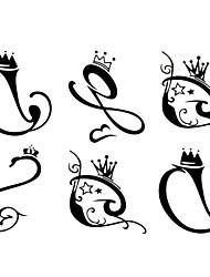 1pc New Temporary Tattoos Arm/Leg/Wrist Tattoos Black Crown Snake Flower Body Tattoos Fake Tattoos(17*16cm)