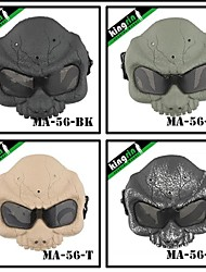MA-56 Desert Army Group Plastic Protective Full Face Mask for Military (Round Mesh)