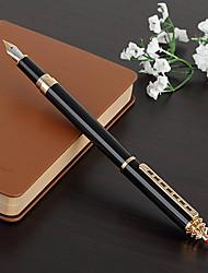0.5mm escuela negro y de negocios de escritura fina pluma estilográfica