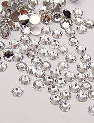 5000Pcs 3mm Clear Circular Diamond  Nail Art Decorations