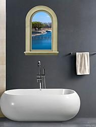 Adesivos de parede adesivos de parede 3d, parede rio banheiro decoração mural pvc adesivos