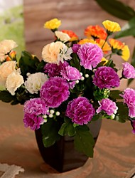 "11.8 ""l conjunto de um aconchegante 7 MEMBROS cravo pano de seda flores"