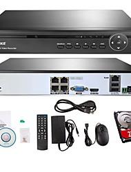 annke® 4ch 720P HD poe NVR video di sicurezza registratore qr accesso smartphone codice, uscita hdmi (hdd 2tb)