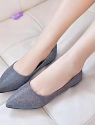 Bailarinas ( Azul/Púrpura/Gris Comfort/Dedo Puntiagudo - Plataforma - Piel - para MUJERES