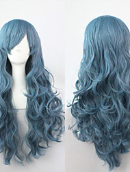 Cosplay a Long Section of High-quality Synthetic Wig High Temperature Wire 80CM Long Curly Hair