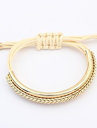 Women's Fashion Alloy Strings Layers Wrist Chains Bracelets