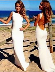Chaoliu Women's Backless Bodycon Long Dress