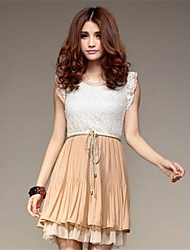 Phoenix mulheres moda temperamento clássico vestido da senhora all-correspondida