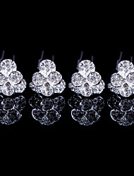 Alloy Hairpins With Rhinestone Wedding/Party Headpiece(Set of 4)
