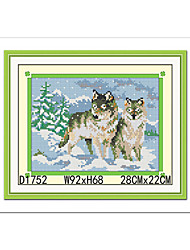 German Shepherd Hand Embroidery Kits Southeast Asia Diamond Cross Stitch Needlework Wall Home Decor 22*28cm