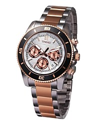 Time100 Men's Fashional Multifunctional STeel Strap Chronograph Quartz Watches(Assorted Colors)