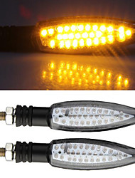 2x Motorcycle Amber 30 LED Turn Signal Indicator Light Bulb for Yamaha QZ - 011
