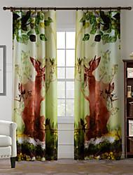 AnTi™ One Panel  Home Fashion Modern Polyester Jungle Elf Print Curtain