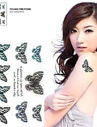 1 Pc Blue Butterfly Simulation Butterfly Flowers Tattoo Stickers Temporary Tattoos