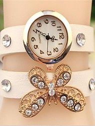 """Women's 2015 The Latest Fashion Crystal """"Butterfly"""" Leather  Quartz Watch(Assorted Colors) Cool Watches Unique Watches"""