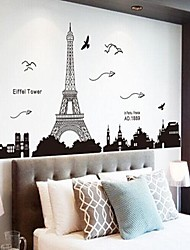 Environmental Removable Tower PVC Wall Sticker