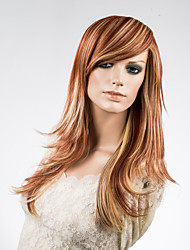 Capless Long Top Grade Quality Synthetic Straight Multiple Colors Hair Wig