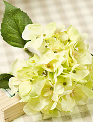 "14"" Two Light Green Hyfrangeas Artifical Flowers"