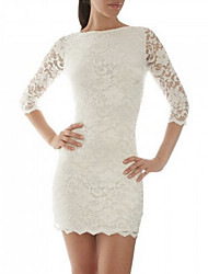 VWJDWomen's Sexy/Bodycon/Lace/Party/Work ¾ Sleeve Dresses (Lace)