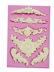 силиконовые торт границы формы европейского кружева силиконовая форма для кексов украшения шоколадных искусств&ремесла кухня выпечка