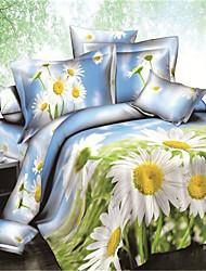 Duvet Cover Set,Home Textile Delux Home Decor 100% Cotton 3D Printed Bedding Set with Ferris Wheel Pattern