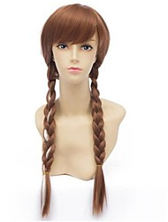 Top Quality Hot Movie Carton Queen Cosplay Wig Brown  Synthetic  Hair Wigs Long Anime Wigs