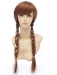 Mujer Pelucas sintéticas Sin Tapa Largo Rizado Marrón peluca de vestuario Peluca de cosplay Las pelucas del traje