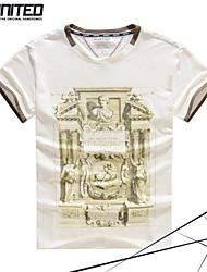 marque de mode grande taille T-shirt ras du cou des hommes avec des impressions d'art de sculpture pour les grandes&taille haute tshirt