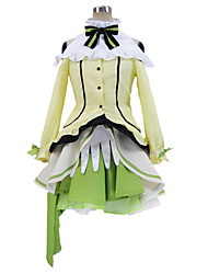 Inspired by Love Live Rin Hoshizora Anime Cosplay Costumes Cosplay Suits Patchwork Green Long SleeveBlouse / Skirt / Headpiece / Socks /
